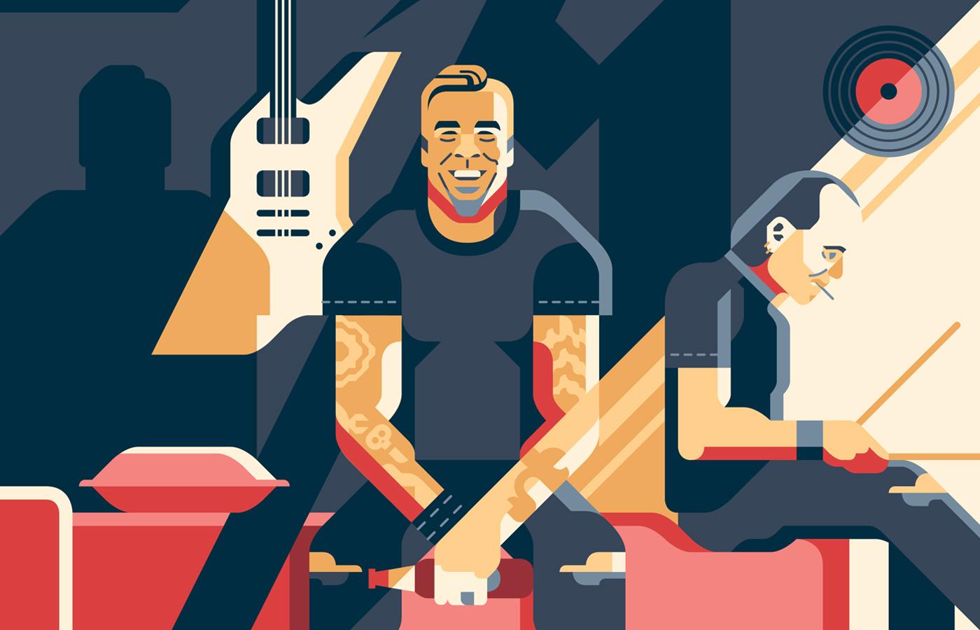 Rock Motel Metallica Detail